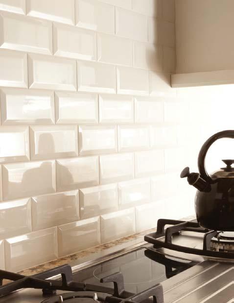 kitchen - beveled tile