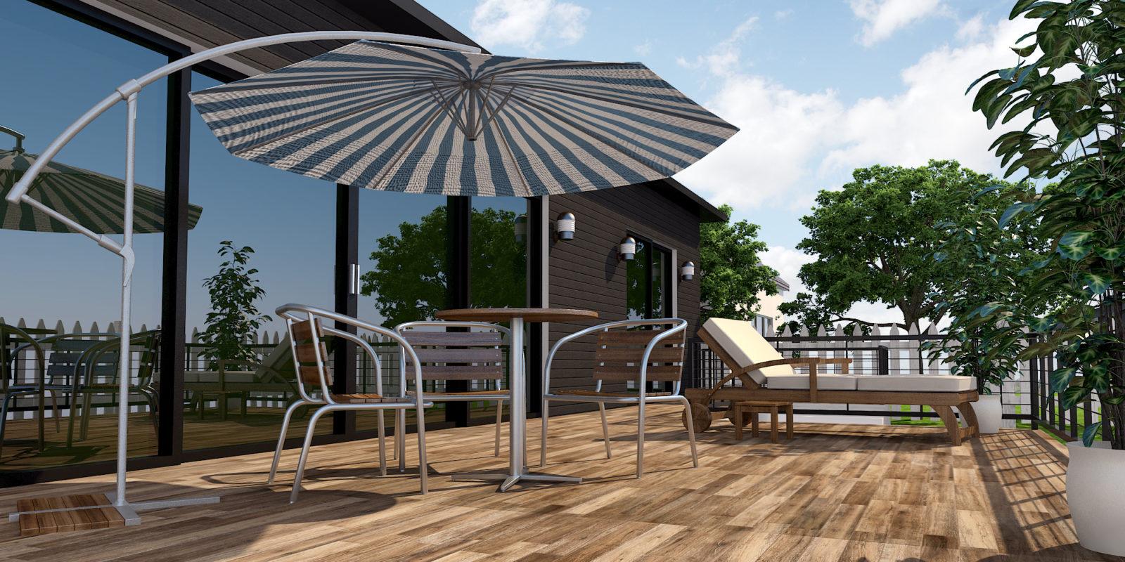 Rear Deck Extends Interior Living Area