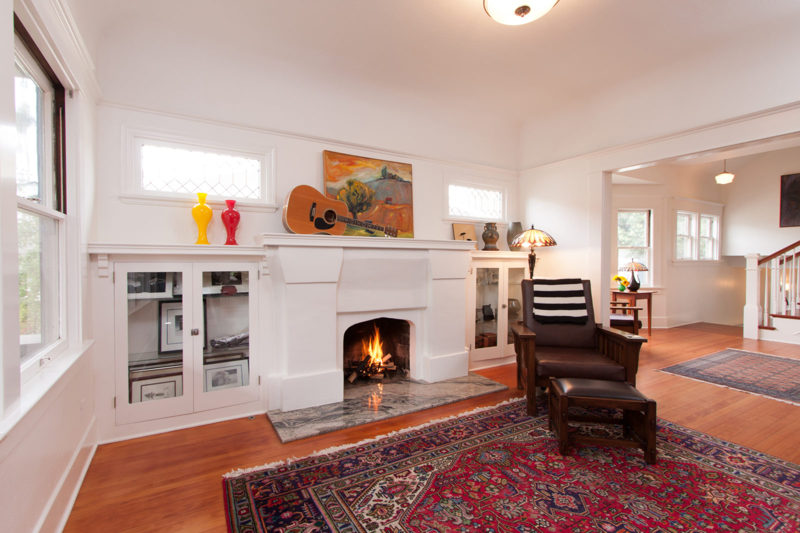 Original Plaster Fireplace Updated