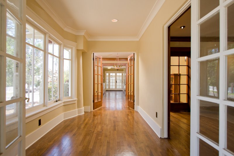 French Doors and Approach Hallway
