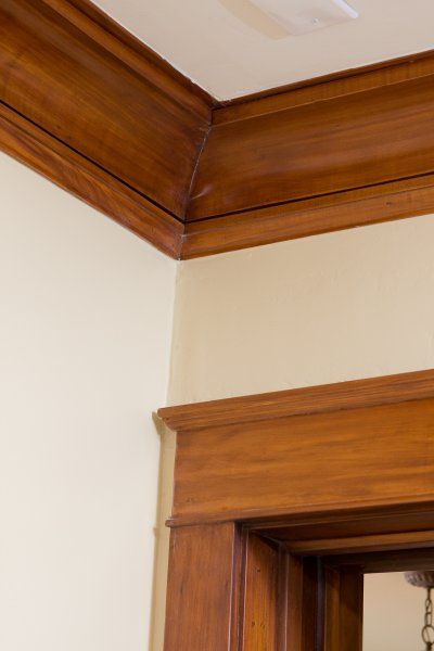 Crown and Casing Wood Molding Detail