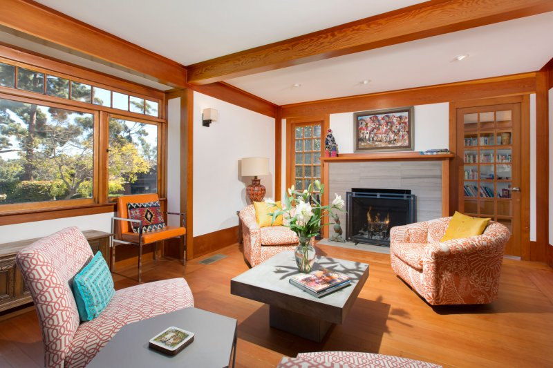 Fireside Comforts at Historic Irving Gill Home