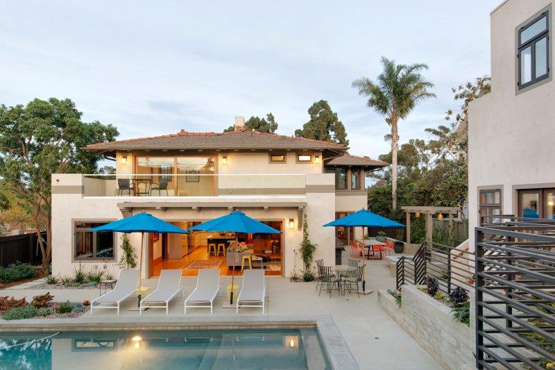 Birdseye View Of Indoor Outdoor Irving Gill Residence