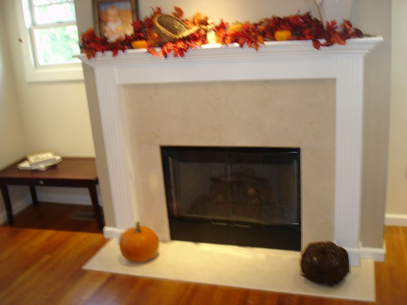 Simple Fireplace & Solid Hard Wood Floors