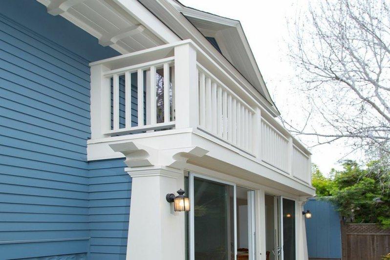 Classic White Trim, Columns & Balcony