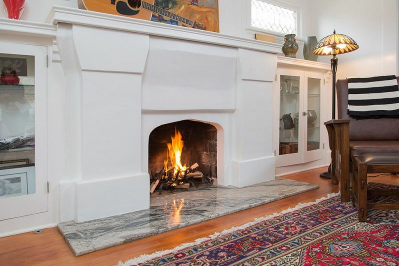 Mission Style Fireplace Surround With New Technology