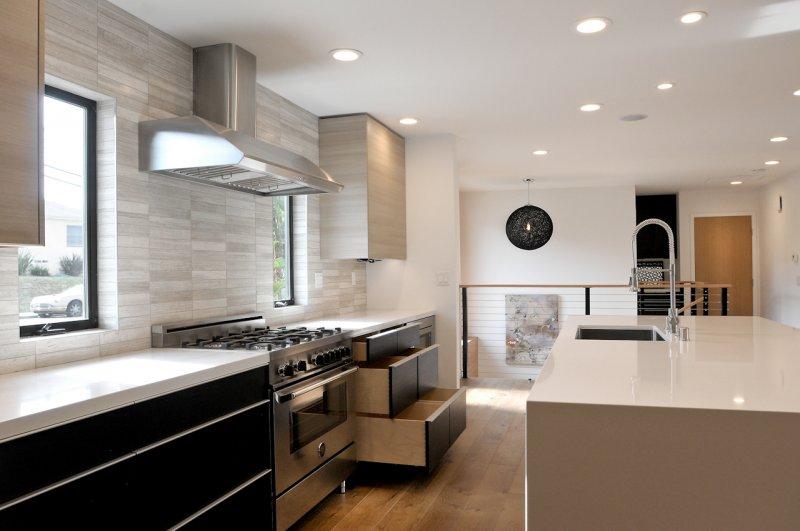 Monochromatic Contemporary Designed Kitchen
