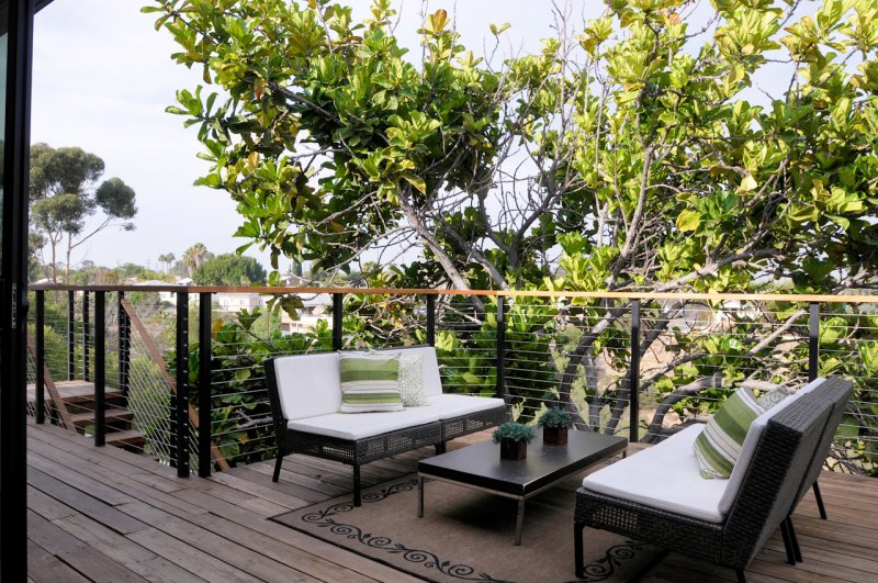 Upper Deck Sitting Area With Ocean View